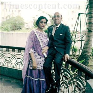 KrishanChander with his Wife