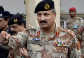 In this undated handout photo released by Pakistan's rangers, Maj. Gen. Rizwan Akhtar, visits the rangers headquarters in Karachi, Pakistan. Pakistan's army on Monday, Sept. 22, 2014, named a new chief to head the country's premier intelligence agency, the Inter-Services Intelligence Directorate, which is also known by its acronym ISI. (AP Photo/Pakistan Rangers)