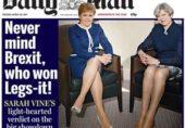 خواتین سیاست دانوں کی ٹانگیں اور برطانوی صحافت
