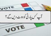 2018 کے انتخابات میں آپ کس پارٹی کو ووٹ دیں گے؟