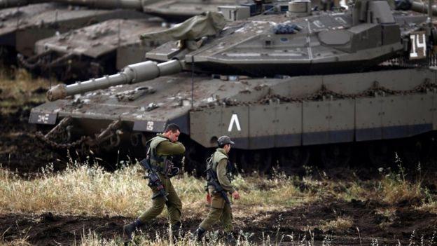 گولان میں اسرائیلی فوج