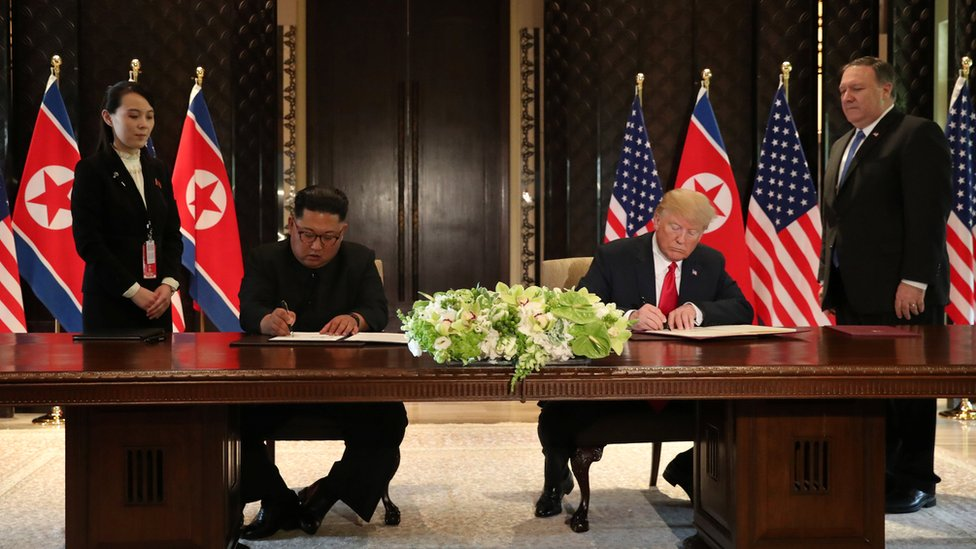 U.S. President Donald Trump and North Korea