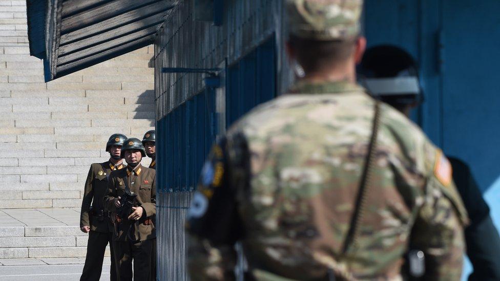شمالی کوریا اور امریکہ کے فوجی