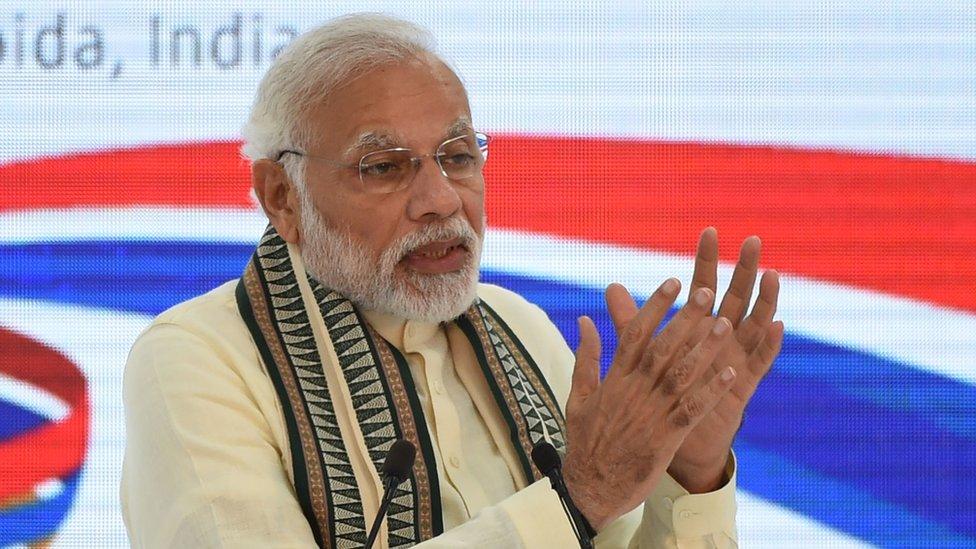 انڈیا کے وزیر اعظم نریندر مودی