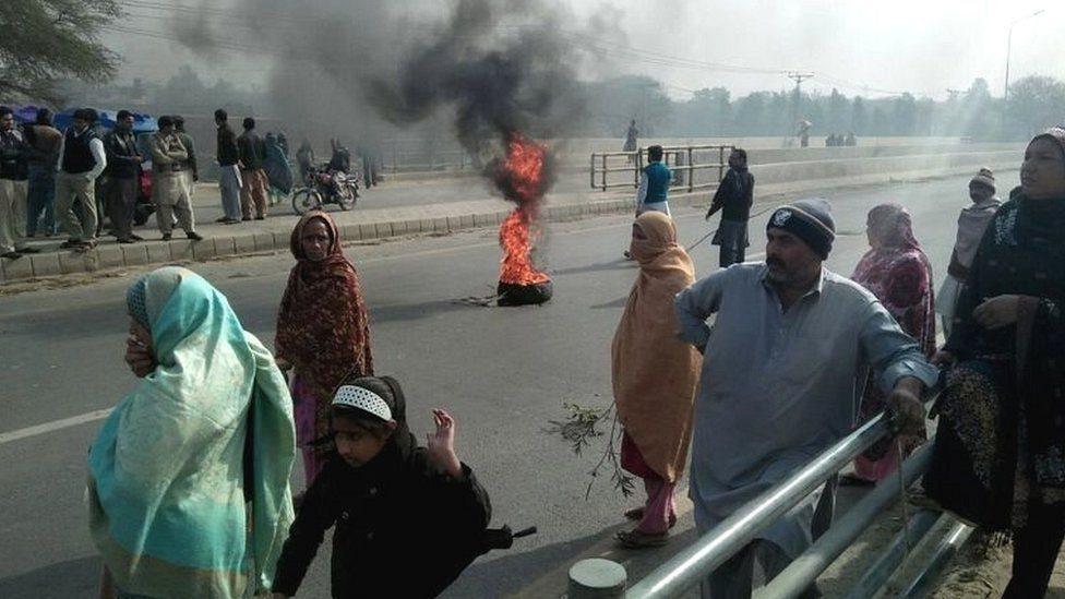 قصور میں احتجاج