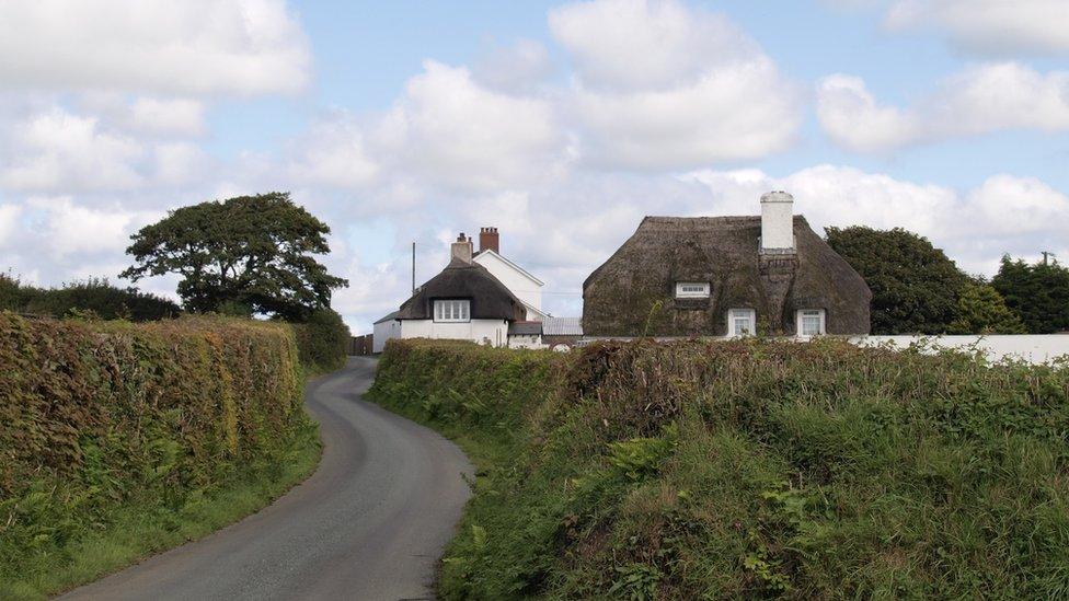 برطانیہ کے علاقے کورنوال کی ایک سڑک