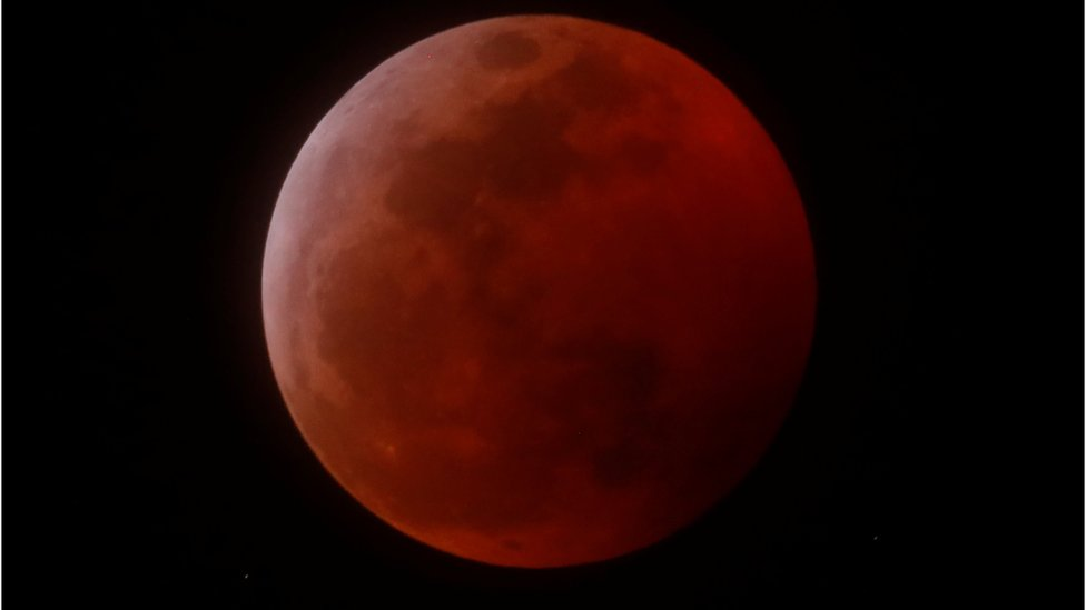 A total lunar eclipse that is called a