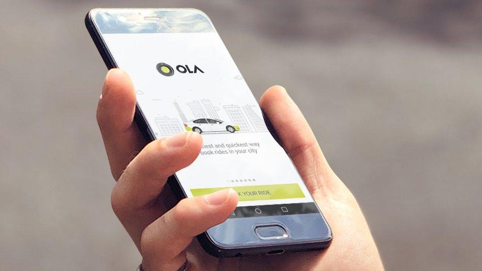 فون پر اولا کی ایپ