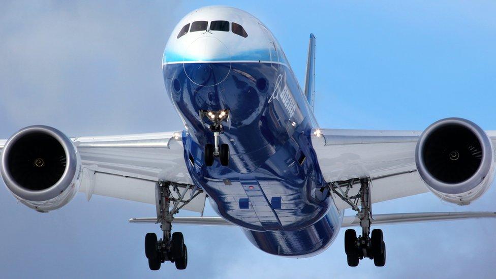 A Boeing plane