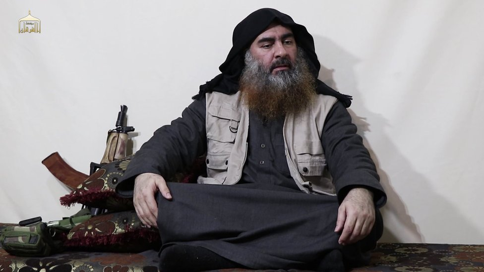 A still from the video released by the Islamic State
