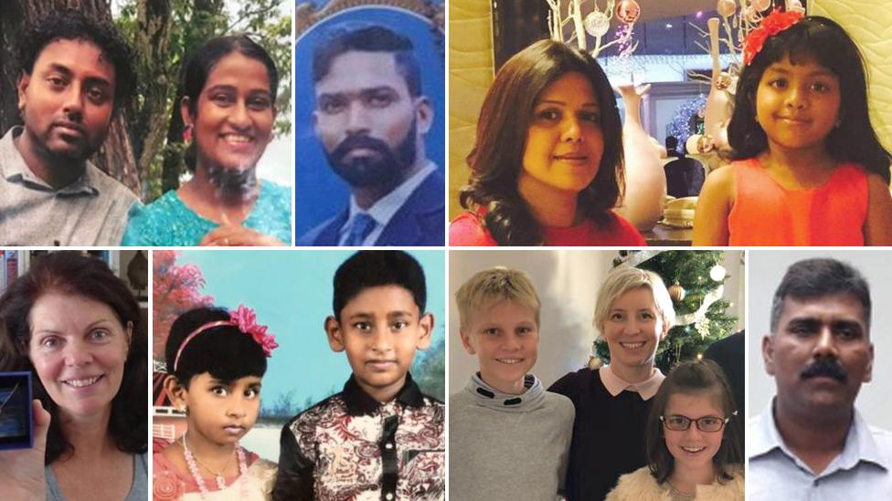 سری لنکا حملوں میں ہلاک ہونے والے کچھ افراد