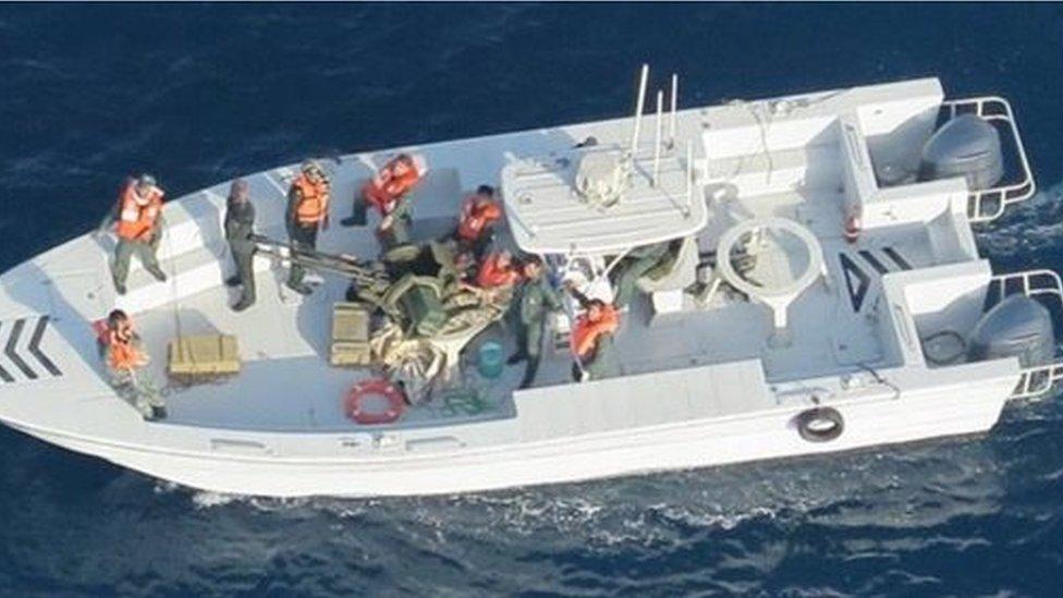 مبینہ ایرانی کشتی