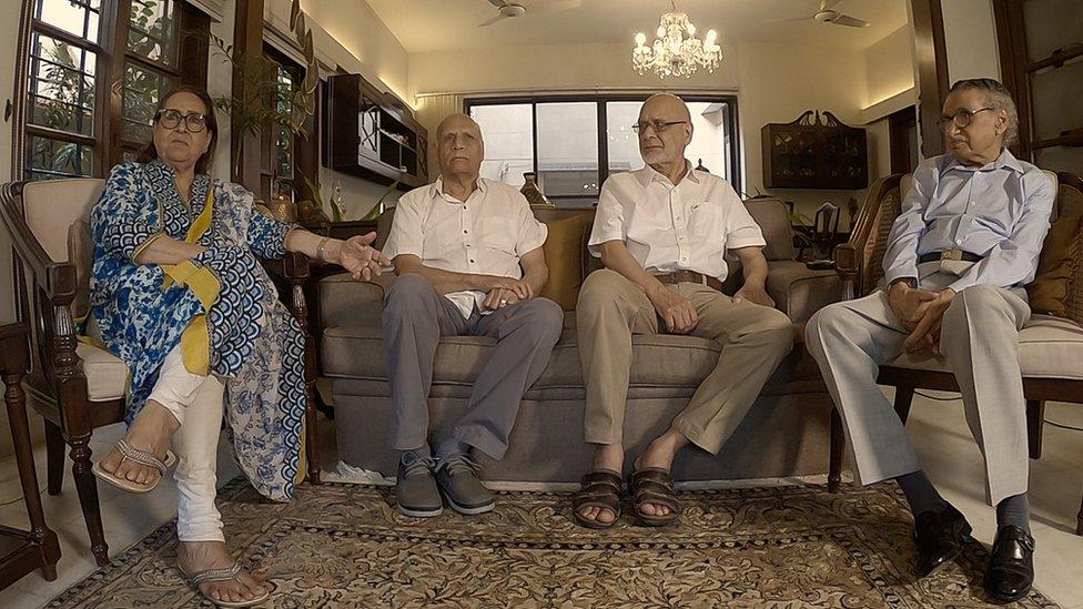 پروین بدر خان، مظہر سعید بیگ، قمر سعید بیگ اور سیّد اقبال حسین