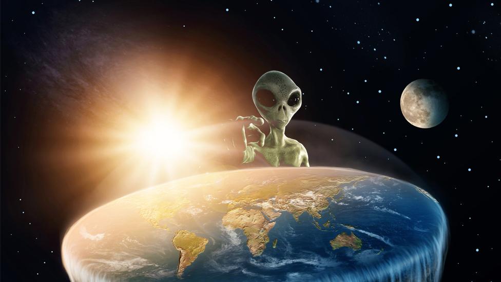 ایک مصور کی نظر میں چپٹی زمین پر خلائی مخلوق