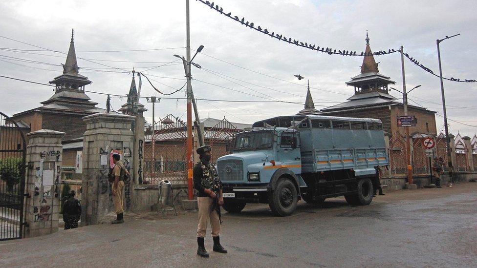 کشمیر میں سیکورٹی فورسز