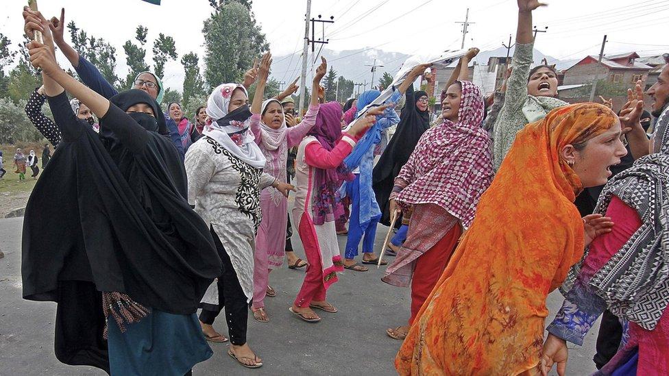 کشمیر میں مظاہرے