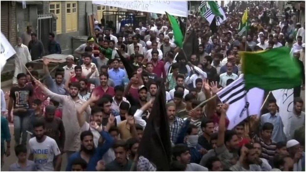 صورہ میں احتجاج