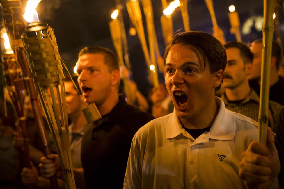 سفید فام شدت پسند شارلٹس ویل میں مظاہرے کے دوران