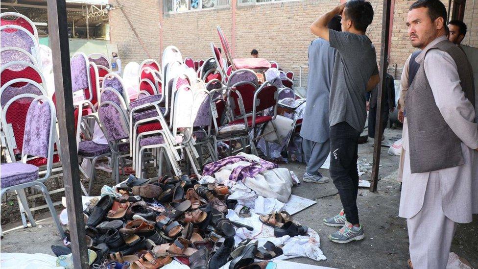 کابل میں حملے کے بعد کا ایک منظر