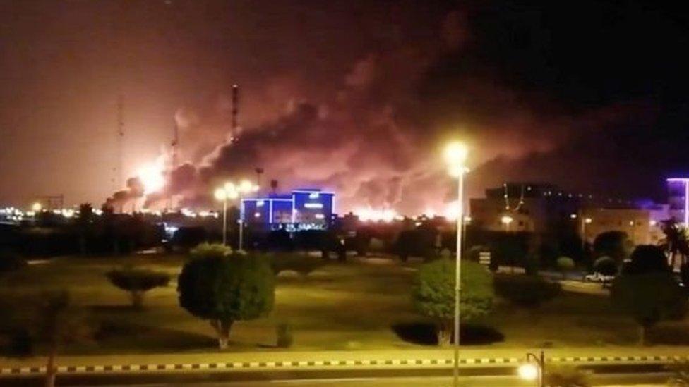سعودی تیل تنصیبات پر حملہ