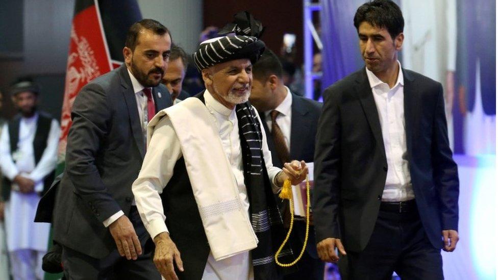 ایک اور الیکشن ریلی پر صدر اشرف غنی