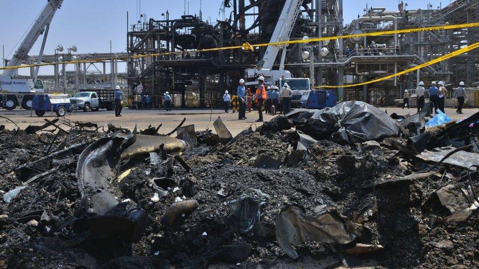 سعودی وزارت دفاع کا دعویٰ ہے کہ خریص میں چار میزائل داغے گئے تھے۔