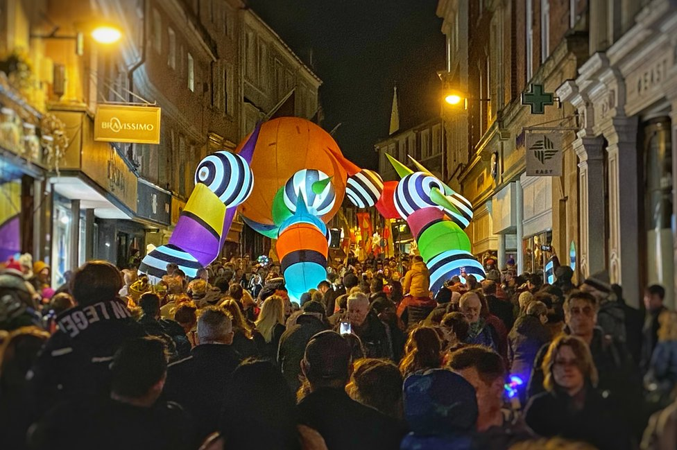 Love Light festival makes its way through Norwich city centre