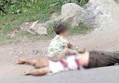 پاکستانی سوشل میڈیا پر کشمیر لہو لہو کی پکار: 'ایک تصویر، بچہ اور دادا کی لاش'