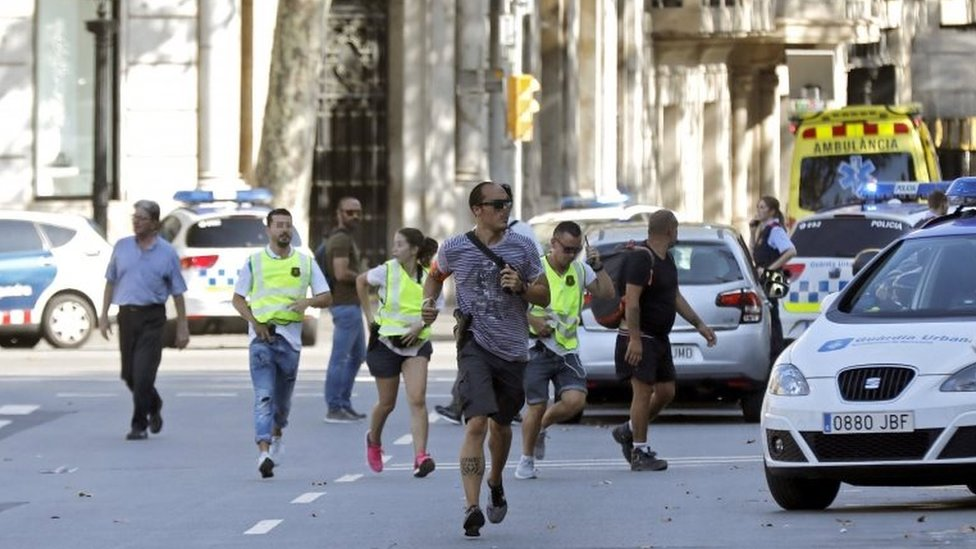 بارسلونا میں ہبنے والے شدت پسندی کا حملہ