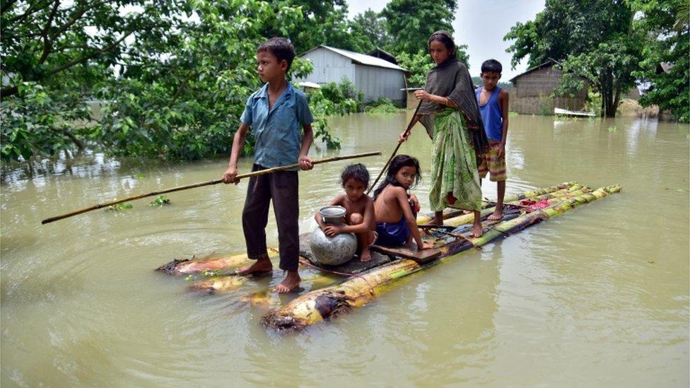 سیلاب زدہ آسام