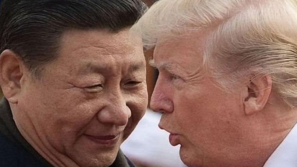 شی جن پنگ اور صدر ٹرمپ