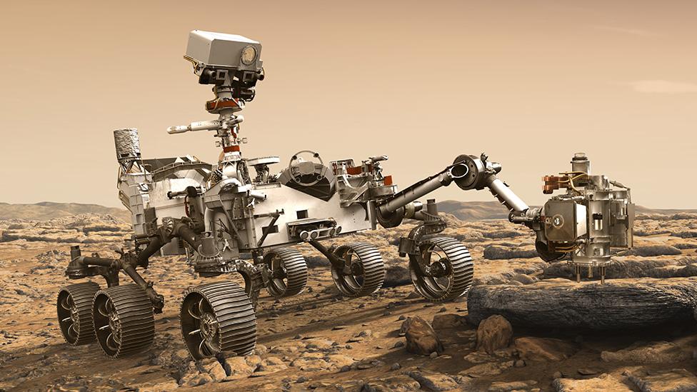 Artwork: Perseverance rover