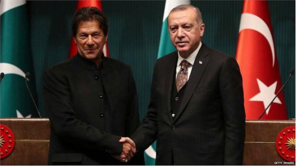 صدر اردوغان اور وزیرِاعظم عمران خان