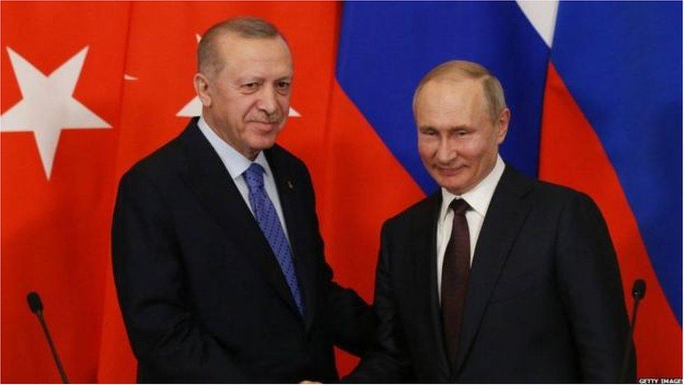 صدر اردوغان اور صدر پوتن