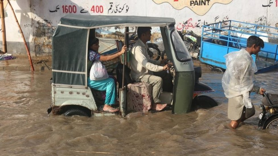 کراچی، بارش