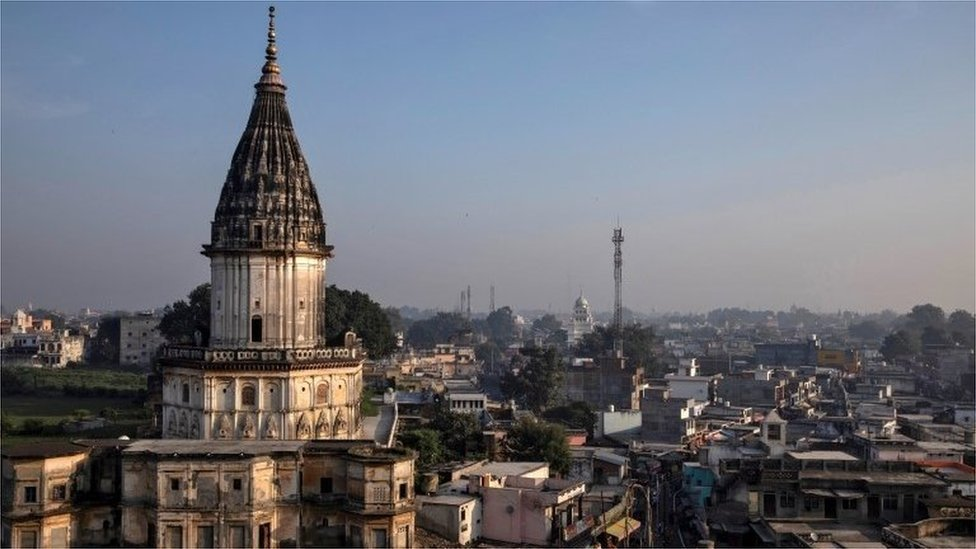 A skyline view of Ayodyha, India