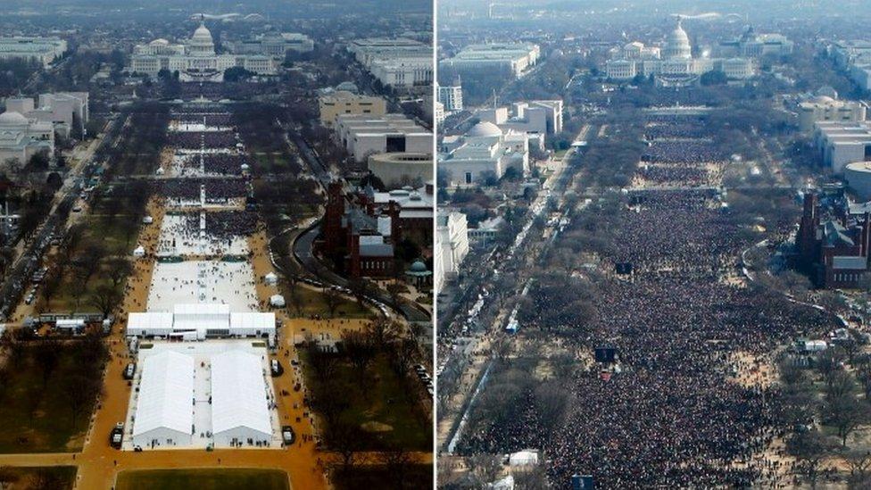 دو مختلف حلف برداریوں کی تقریب کی تصاویر