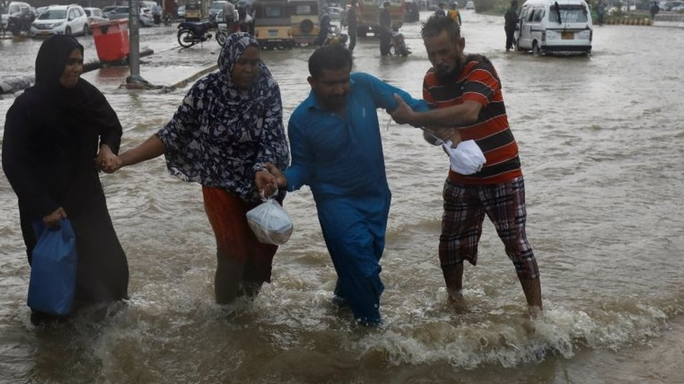 بارش، کراچی