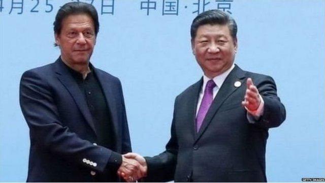 پاکستانی وزیر اعظم عمران خان اور چینی صدر شی جن پنگ