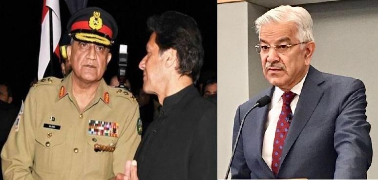 آرمی چیف نے کہا کہ وزیر اعظم عمران خان کی تقریریں ان کے سامنے آرہی ہیں: خواجہ آصف