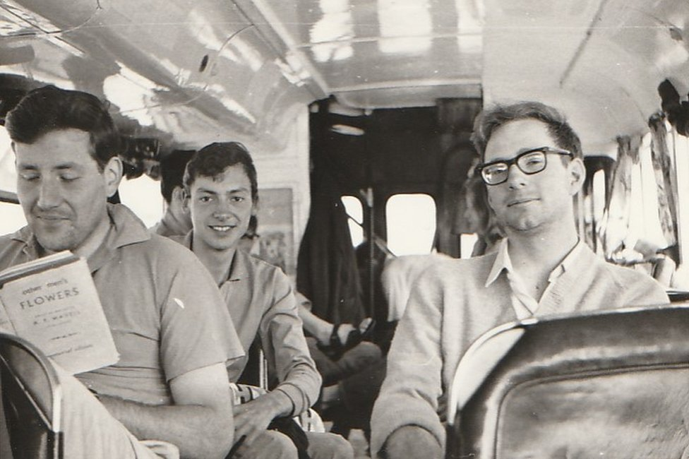 Left to right, Dick Moore, Mike Hughes, Nigel Hungerford