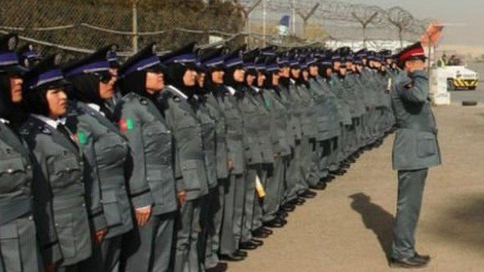 Female officers in Afghanistan
