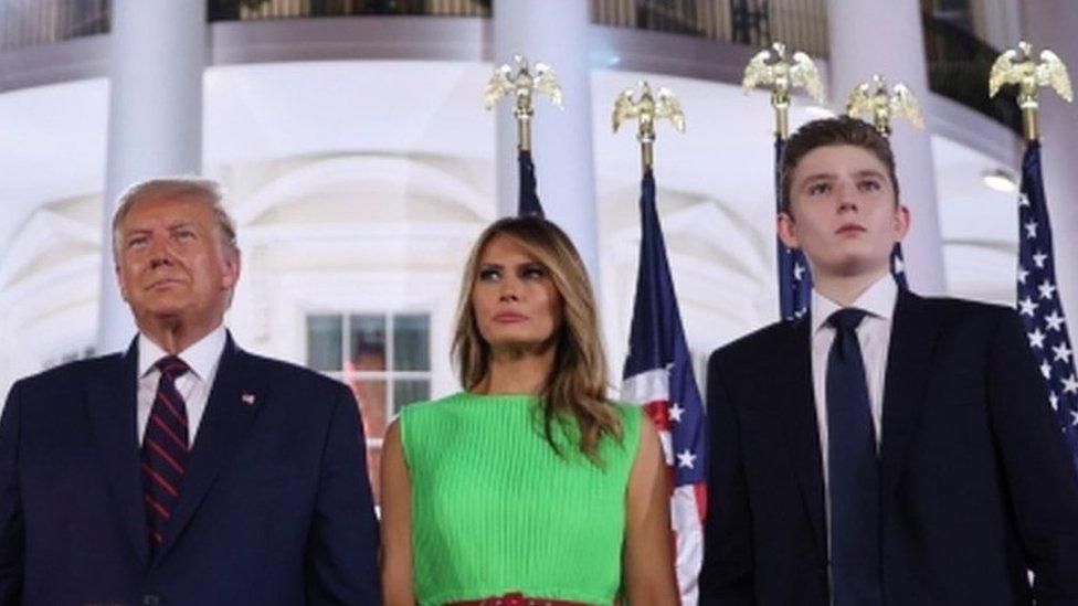 بیرن ٹرمپ اور صدر ٹرمپ