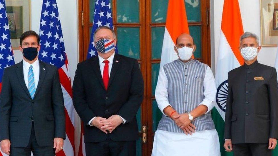 انڈیا اور امریکہ کے وزرائے خارجہ اور وزرائے دفاع