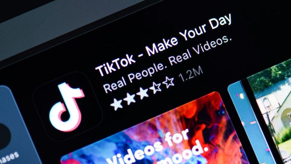 TikTok in app store