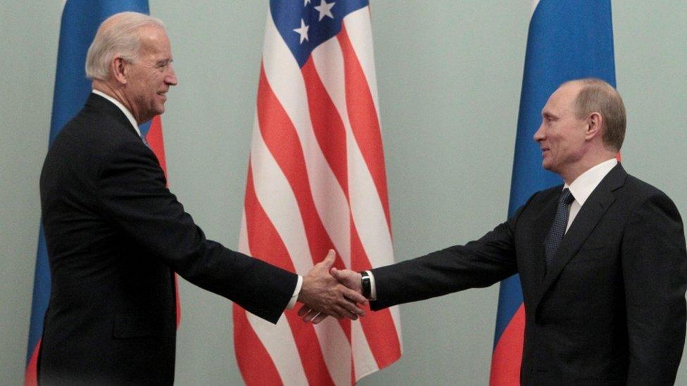 Joe Biden meets Vladimir Putin - 2011 picture