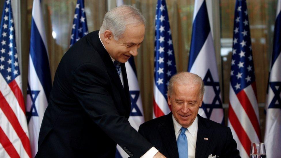 Benjamin Netanyahu and Joe Biden in 2010