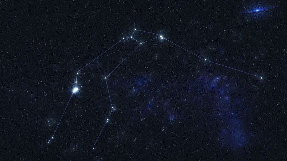 Aquarius constellation stars in outer space. The elements of this image have been provided by NASA.