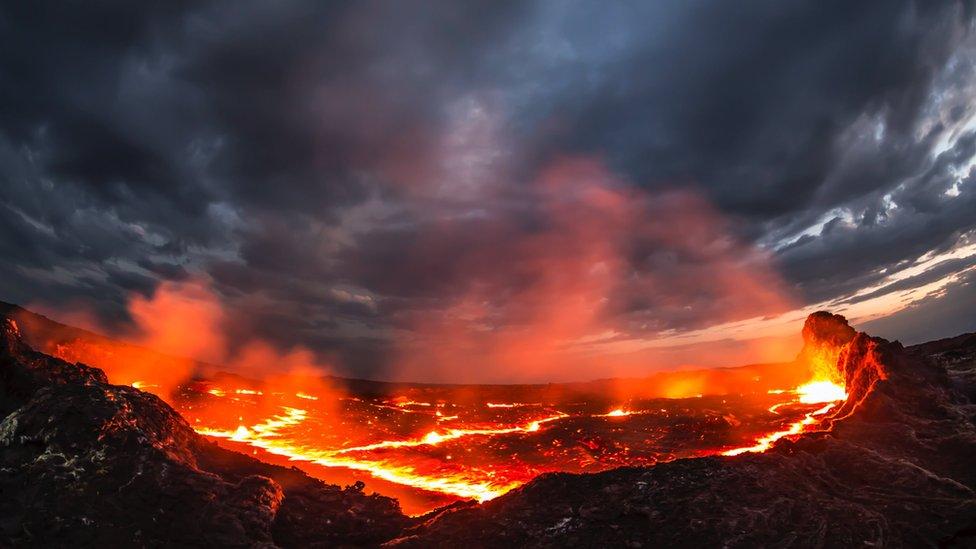 The Erta Ale lava lake in Ethiopia, Africa