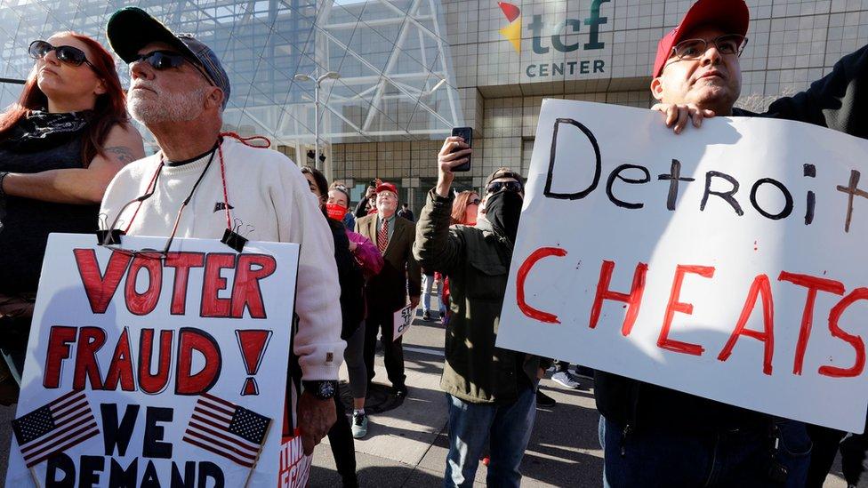 ڈونلڈ ٹرمپ کے حامی مظاہرین